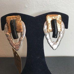 Artisan J. Jansen Large Geometric CLIP ON Earrings